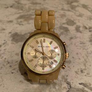 Cream Michael Kors Watch